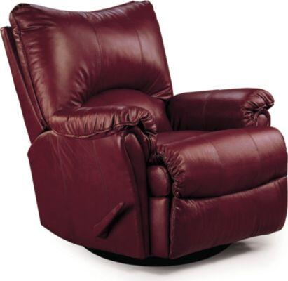 Lane Furniture 1353514113 Alpine Series Transitional Bycast Leather Wood Frame  Recliners