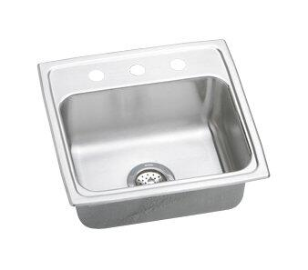 "Elkay LRQ19190 20"" Top Mount Self-Rim Single Bowl 18-Gauge Stainless Steel Sink"