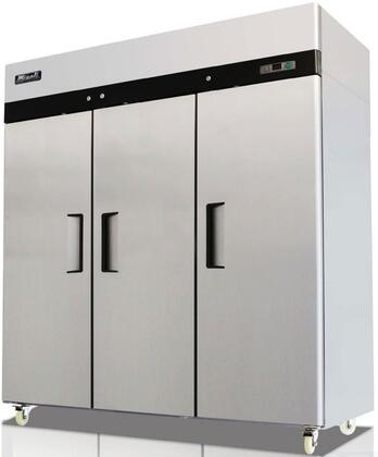 Migali C-XF Competitor Series Reach-In Freezer with cu. ft. Capacity, Solid Door, 115 Volts, Shelves, and Top Mounted Compressor, in Stainless Steel