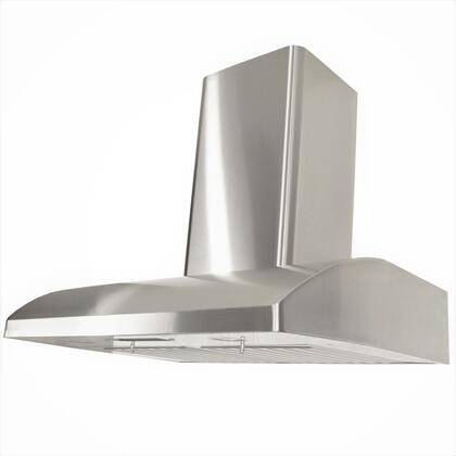 Kobe CHX22 Wall Mount Range Hood With 680 CFM Internal Blower, 3 Speeds, Mechanical Push Button Control, LED lights, Dishwasher safe professional baffle filters and QuietMode in Stainless Steel