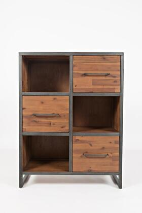 "Jofran Studio 16 Collection 1661-XX XX"" Accent Bookcase with Drawers and Shelves in Brown"