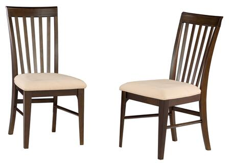 Atlantic Furniture MONTREALDCCC Montreal Collection Set of 2 Dining Chairs with Cappuccino Seat Cushions: