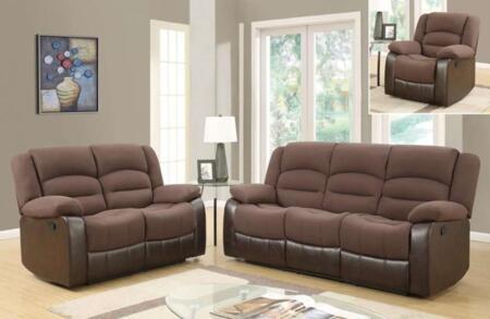 Glory Furniture U98243D128CHOCOLATEPURSRLSR U98243 Living Ro