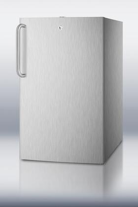 Summit FF511LADACSS FF511LADA Series Freestanding Counter Depth Compact Refrigerator with 4.1 cu. ft. Capacity,  Field Reversible Doors