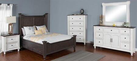 Sunny Designs 2308ECKBDMN Carriage House King Bedroom Sets