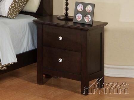 Acme Furniture 12010 All Star Series Rectangular Wood Night Stand