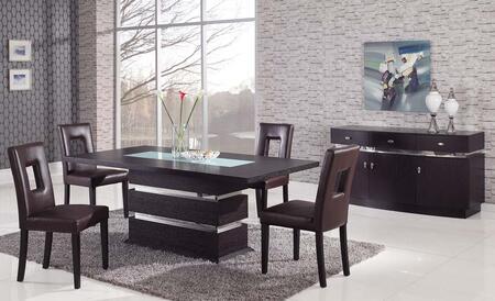 Global Furniture USA G0727pcBR Global Furniture USA Dining R