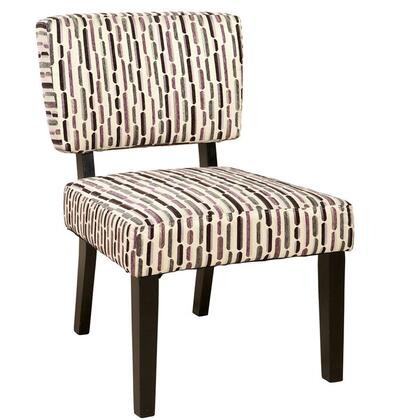 Linon 36135MORL02AS Juniper Series Armless Fabric Wood Frame Accent Chair