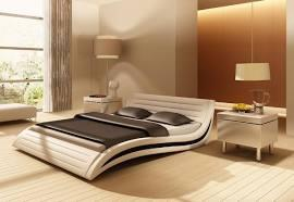 VIG Furniture VGEVBJ213 Modrest Apollo Platform Bed with Leatherette Upholstery in White