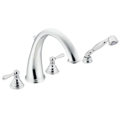 Moen T922 Kingsley Two-handle High Arc Roman Tub Faucet includes hand shower