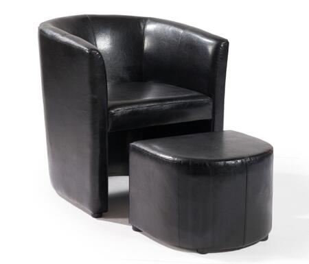 Armen Living LCH1207CLOTX Jango Club Chair And Ottoman with Antique Bonded Leather in