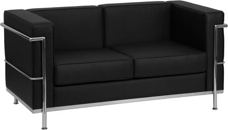 """Flash Furniture HERCULES Regal Series ZB-REGAL-810-2-LS-XX-GG 57"""" Love Seat with Encasing Frame, Taut Seat and Back, and Integrated Stainless Steel Legs in"""