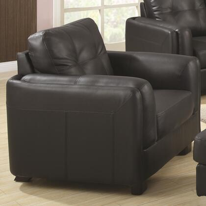 Coaster 504453 Sawyer Series Bonded Leather with Wood Frame in Black with Ottoman Included