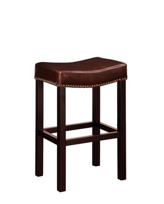 Armen Living LCMBS013BABCX Tudor Backless Stationary Bar stool with Nail Head Accents and Antique Brown Leather