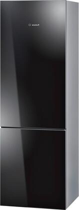 "Bosch B10CB80NVB 24"" 800 Series Counter Depth Bottom Freezer Refrigerator with 10 cu. ft. Capacity in Black"