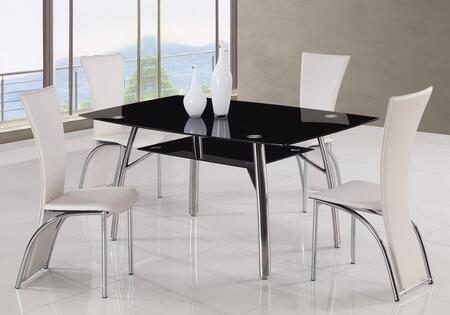 Global Furniture USA A091DT1499DC5pcWH Global Furniture USA