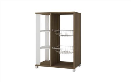 Accentuations 49AMC Accentuations by Manhattan Comfort Useful Pasir Pantry Rack with 4 Shelves and 2 Racks
