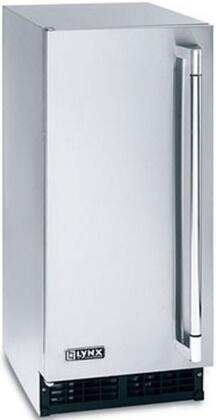 """Lynx LM15ICEx 15"""" Outdoor Ice Machine with 55 lbs of Daily Ice Production and 27 lbs of Storage, in Stainless Steel with"""