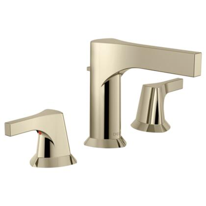Zura  3574-PNMPU-DST Delta Zura: Two Handle Widespread Lavatory Faucet in Polished Nickel