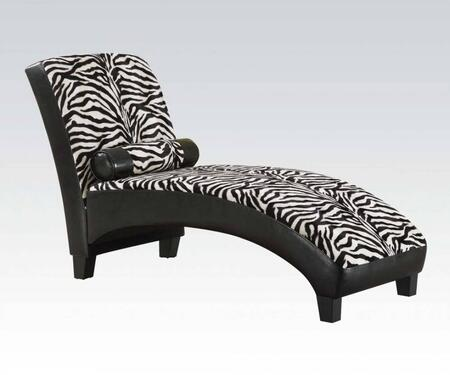 Acme Furniture 96139 Anna Series Transitional Fabric Chaise Lounge