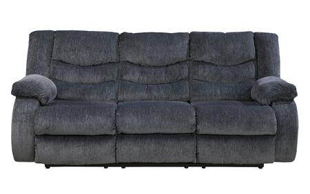 Signature Design by Ashley Garek 9200 Reclining Sofa with Supportive Divided Back Cushions, Thick Padded Arms and Soft Fabric Upholstery in