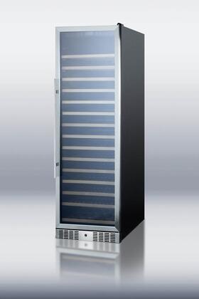 """Summit SWC1925 23.63"""" Freestanding Wine Cooler, in Black"""