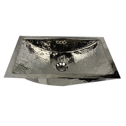 Nantucket TRX2416OF 23.5 Inch X 15.5 Inch Hand Hammered Brass Rectangle Undermount Bathroom Sink