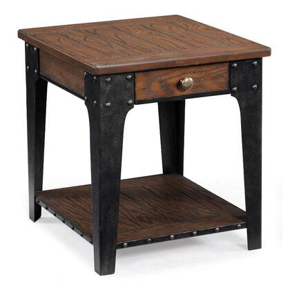 Magnussen T180603 Lakehurst Series Rustic/Lodge Rectangular End Table