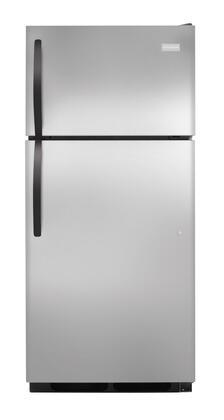 Frigidaire FFHT1725PS Freestanding Top Freezer Refrigerator with 16.5 cu. ft. Total Capacity 2 Glass Shelves 3.7 cu. ft. Freezer Capacity