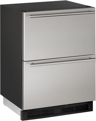 """U-Line U-1224DWR 24"""" 1000 Series Built-In Solid Refrigerator Drawers with 5.4 cu. ft. Total Capacity, Digital Touch Pad, Passive Cooling System, LED Lighting, and 2 Full Extension Drawers, in"""