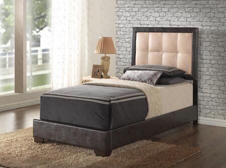 Glory Furniture G2588TBUP G2500 Series  Twin Size Panel Bed