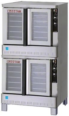 """Blodgett ZEPH-100-G 39"""" Energy Star Standard Depth Gas Convection Oven with Rigid Insulation, Porcelain Liner, Dependent and Heavy Duty Doors:"""