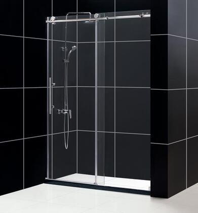 DreamLine SHDR-61607610 Enigma-X Frameless Sliding Shower Door With Fully Frameless Heavy Glass Sliding Door, Reversible For Right Or Left Door Opening & In