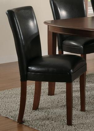 "Coaster Soho 23.5"" Parson Side Chairs with Cherry Tapered Legs, Stictched Back Details and Leatherette Upholstery in"