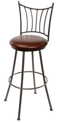 Stone County Ironworks 902766WOODDPN Ranch Series  Bar Stool