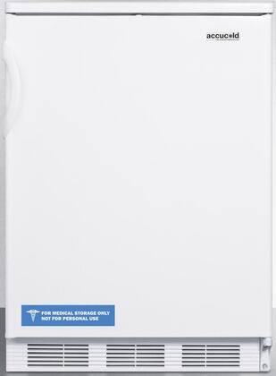 "AccuCold FF67 24"" FF67 Series Energy Star, Medical, Commercial Freestanding Compact Refrigerator with 5.5 cu. ft. Capacity, Crisper, Door Storage, Interior Light and Automatic Defrost:"