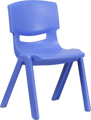 "Flash Furniture YU-YCX-005-XX-GG Plastic Stackable School Chair with 15.5"" Seat Height, 309 lb. Static Load Capacity, Lightweight Design, Easy To Clean, and Stacks up to 10 Chairs High"