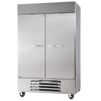 "Beverage-Air FB49-1 52"" Vista Series Two Section [Solid Door] Reach-In Freezer, 49 cu.ft. Capacity, Stainless Steel Front, Robust Gray Painted Exterior Sides, Aluminum Interior, with Bottom Mounted Compressor"