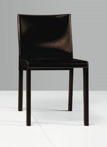 Modloft CDS097C4 Fleet Series Modern Leather Wood Frame Dining Room Chair