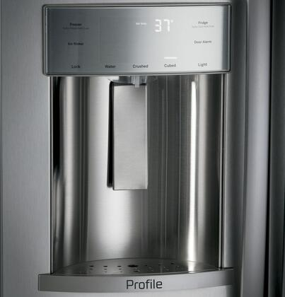 GE Profile PSB42YSKSS 42 Inch Built In Side by Side Refrigerator, in
