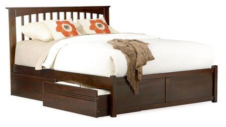 Atlantic Furniture BROOKLYNFPFQUEENNM Brooklyn Series  Queen Size Bed