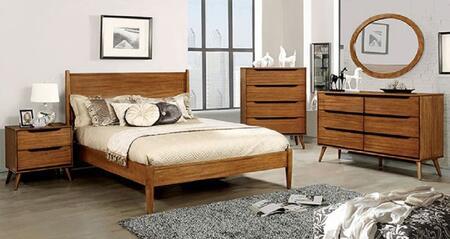 Furniture of America CM7386AQBEDSET Lennart Queen Bedroom Se