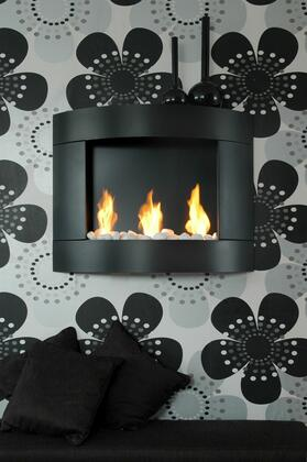 Bio-Blaze BBD2 Diamond II Bio Ethanol Fireplace with Adjustable Bloc Burner, 6824 BTU Heat Capacity, Hanging system, Funnel, Marble Stones, Lighter and Extinguish Tool