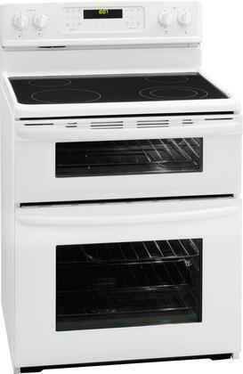 Frigidaire FGEF301DNW Gallery Series Electric Freestanding Range with Smoothtop Cooktop, 4.4 cu. ft. Primary Oven Capacity, Oven in White