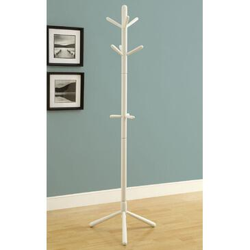 Monarch I 200 Freestanding Coat Rack, with Wood Construction, 6 Hooks, and Sturdy Pedestal