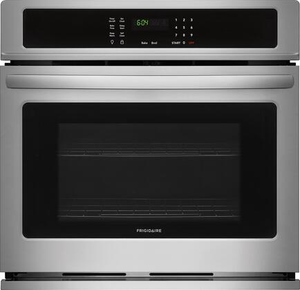 """Frigidaire FFEW2726Tx 27"""" Star K Certified Single Wall Oven with 3.8 cu. ft. Capacity, 2 Oven Racks, Keep Warm Setting, ADA Compliant, and Vari Broil Option, in"""