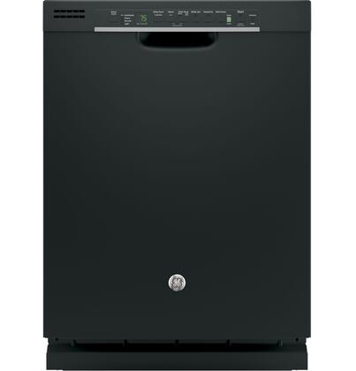 """GE GDF610P 24"""" Energy Star Built In Dishwasher with 16 Place Settings, 4 Cycles, 51 dBA, Bottle Jets, Steam Prewash and Piranha Food Disposer, in"""