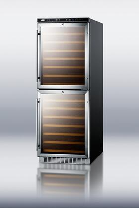 """Summit SWC1875 23.63"""" Built-In and Freestanding Wine Cooler 