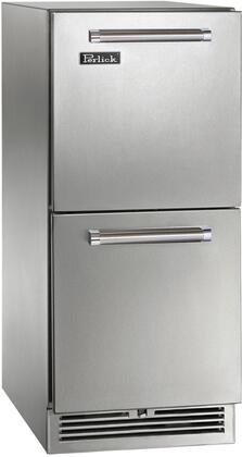 """Perlick HP15RS3 15"""" Signature Series Indoor Refrigerator Drawers with 66 Can Capacity, RAPIDcool Forced-air System, and Stainless Steel Construction, in"""
