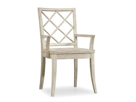 "Hooker Furniture Sunset Point Series 5325-753 38"" Dining Room X Back Chair with Tapered Legs, Distressed Detailing and Wood Frame in Hatteras White"